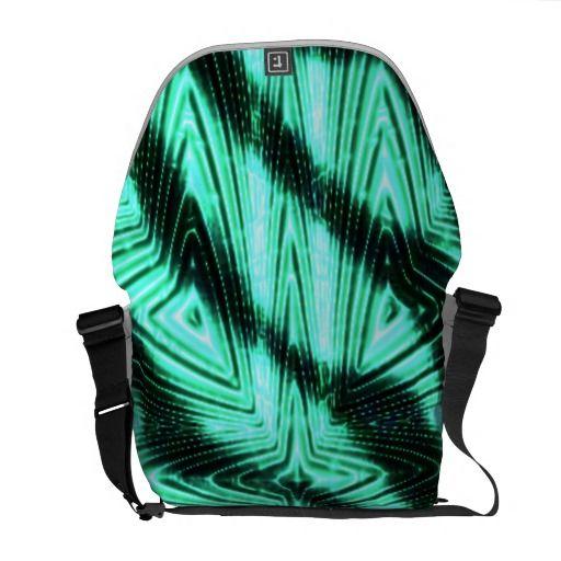 Modern trendy art messenger bags