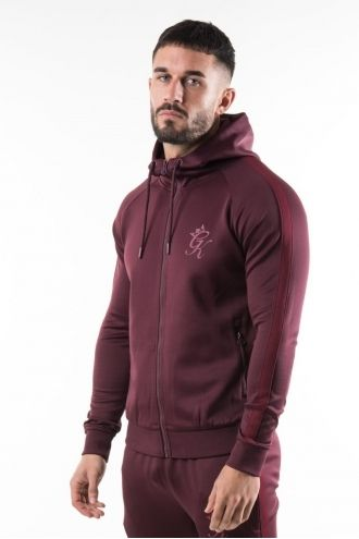 Poly Tracksuit Top - Wine/Burgundy