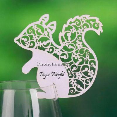 Idėjos vestuvėms, stalo korteles, // Laser cut wedding name cards