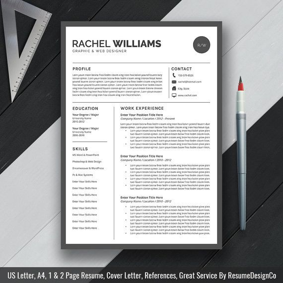 76 best Resume images on Pinterest Resume design, Cv template - modern professional resume