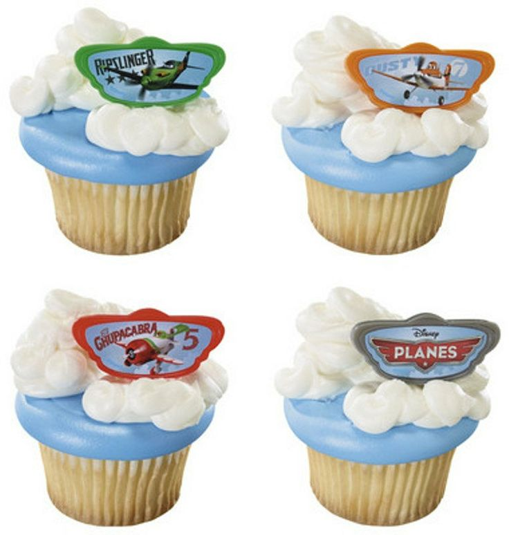 24 Disney Planes Dusty & Friends Cupcake Rings by BlingYourCake, $6.50