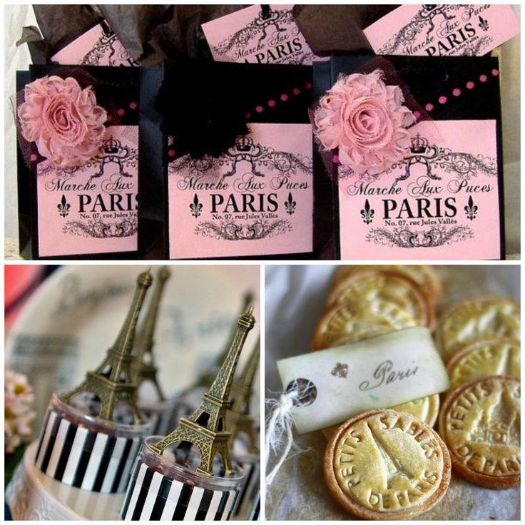 Lembrança de festa tema Paris para meninas
