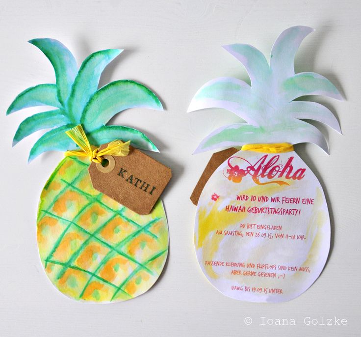 Tutorial - DIY - Aloha Hawaii Birthday Party - handmade invitations, props, accessories, cake and table decoration