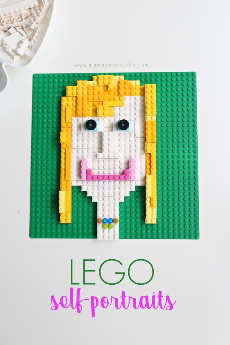My gosh, are we ever on a roll with fun LEGO projects this week! After yesterday's gorgeous LEGO mandala art, we decided to try our hand at layered LEGO self portraits today and oh my word – we loved everything about the project! The inspiration came from this layered cardboard self-portrait that Miss G made…