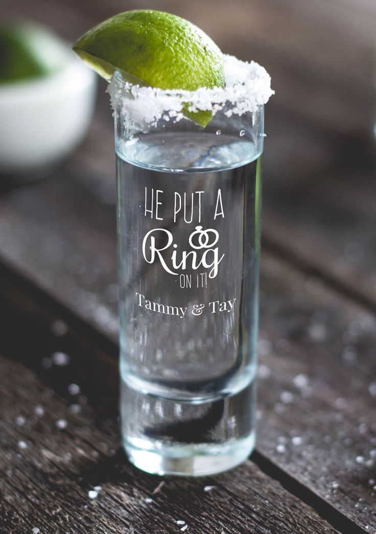 Personalized Tall Shot Glasses wedding favors