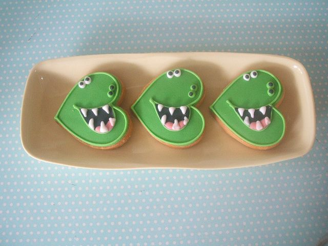 dinosaur party cookies | Flickr - Photo Sharing!