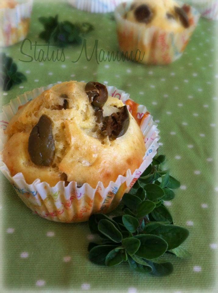 Muffin alle olive ricetta salata | Status mamma