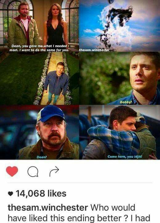 Yes Bobby is the only real parent Sam and Dean ever had. He would have never betrayed them or had sex with Sam's torturer like Mary freaking Winchester did. I liked her better when she was dead.