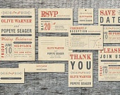 Rustic Inspired Wedding Invitation Card by differentdesigns10