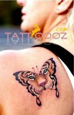 Vibrant tiger butterfly tattoos - For more visit http://tattoooz.com