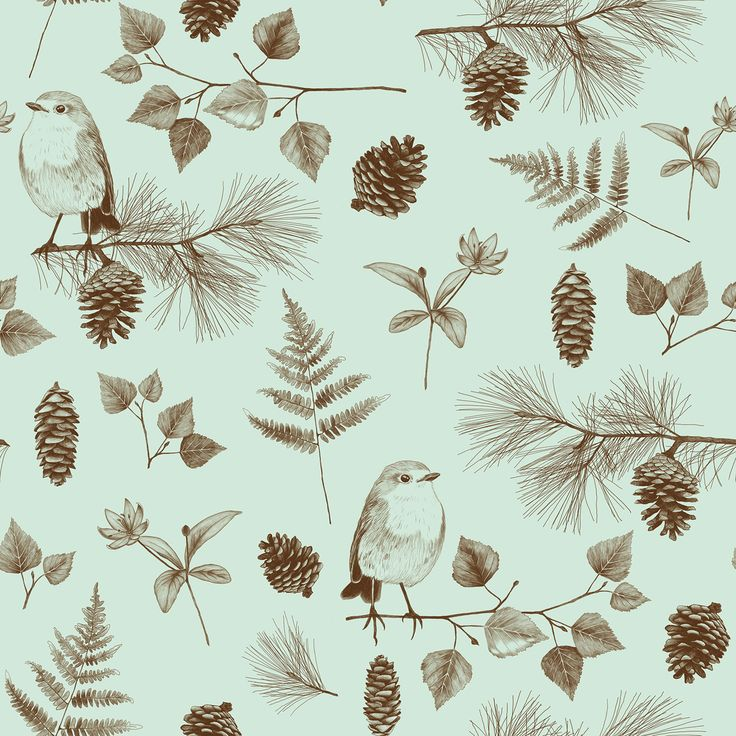 """Forest"" pattern. By Sanna Kivioja."