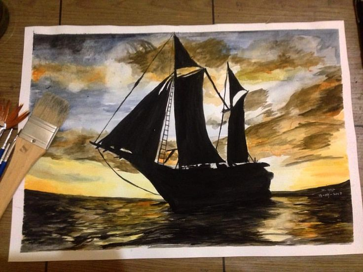 "103 Suka, 10 Komentar - Feby Bayu Samudra (@fbybayu) di Instagram: ""Perahu layar pinisi watercolor on canson paper 200 gsm . . Pinisi adalah kapal layar tradisional…"""