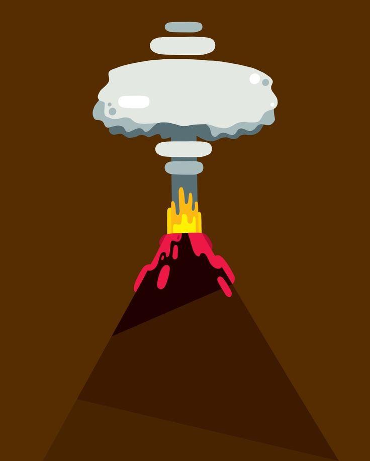 volcano in progress #illustration