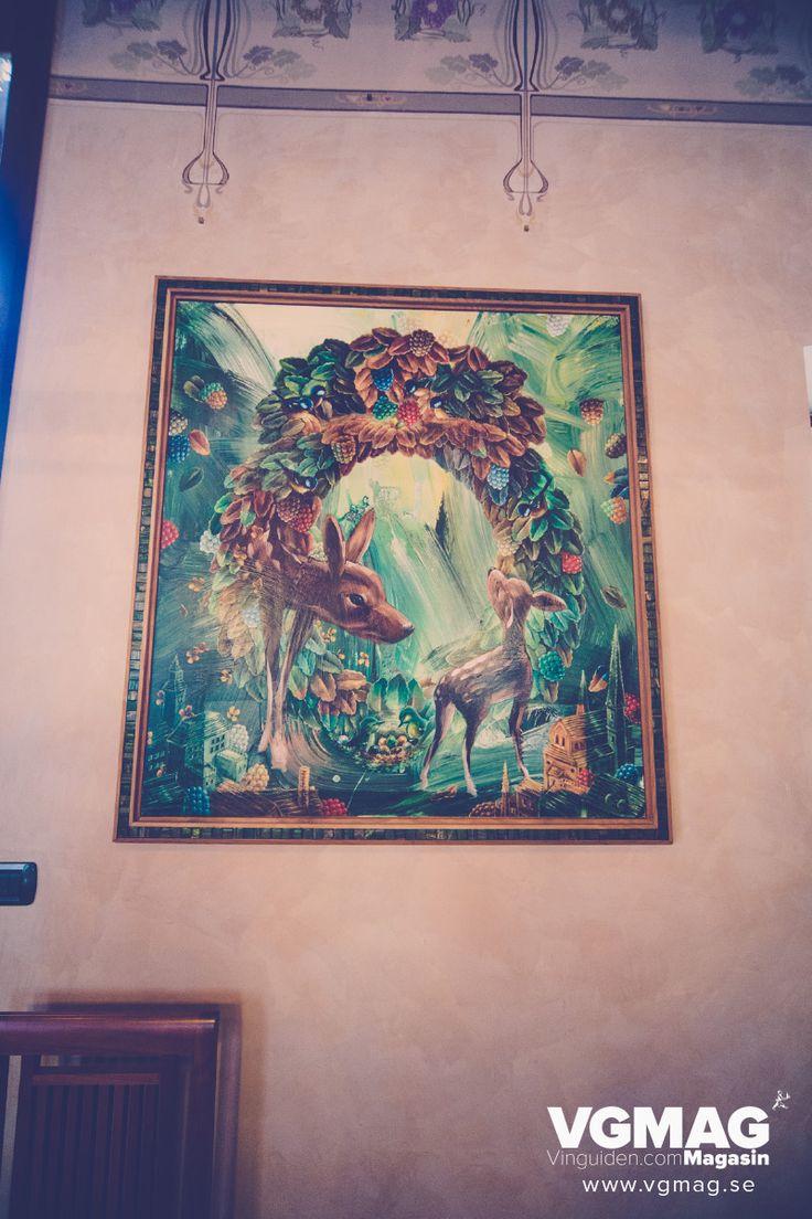 A painting by swedish artist Ernst Billgren for the MASI Costasera Amarone. #Costaseracontemporaryart