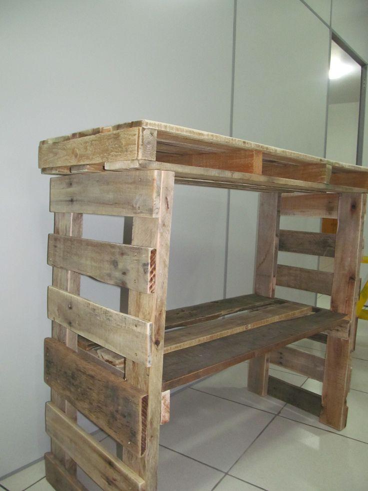Armario Para Consultorio Odontologico ~ Aparador rústico feito de madeira de pallet, sem