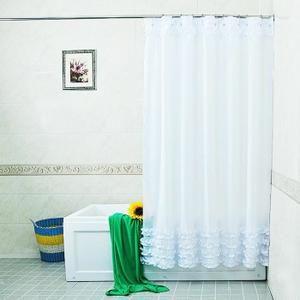 RIDEAU DE DOUCHE Décoration de rideau de douche en dentelle impermé
