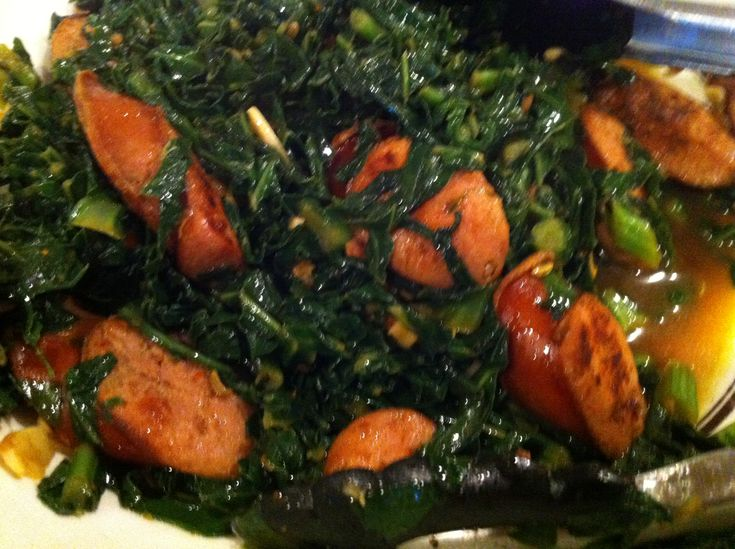 Sauteed Collard Greens and Sausage