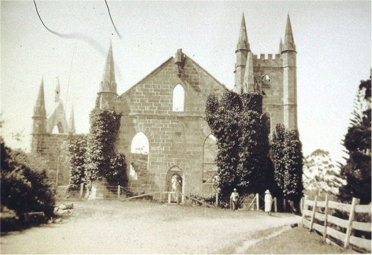 Port Arthur Church ruin, 1923. Allport Library and Museum of Fine Arts: http://catalogue.statelibrary.tas.gov.au/item/?q=%22port+arthur%22+church&avail=Online&i=2&id=692669