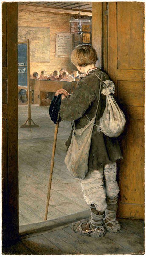 Nikolay Bogdanov - NA PORTA DA ESCOLA - 1897