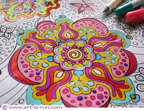 Big Abstract Coloring Pages : Best mandalas images coloring pages mandala