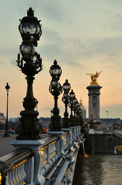 Paris, Pont d'Alexandre III - The most beautiful bridge in the world!