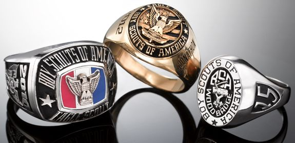 Boy Scout Eagle rings from Jostens