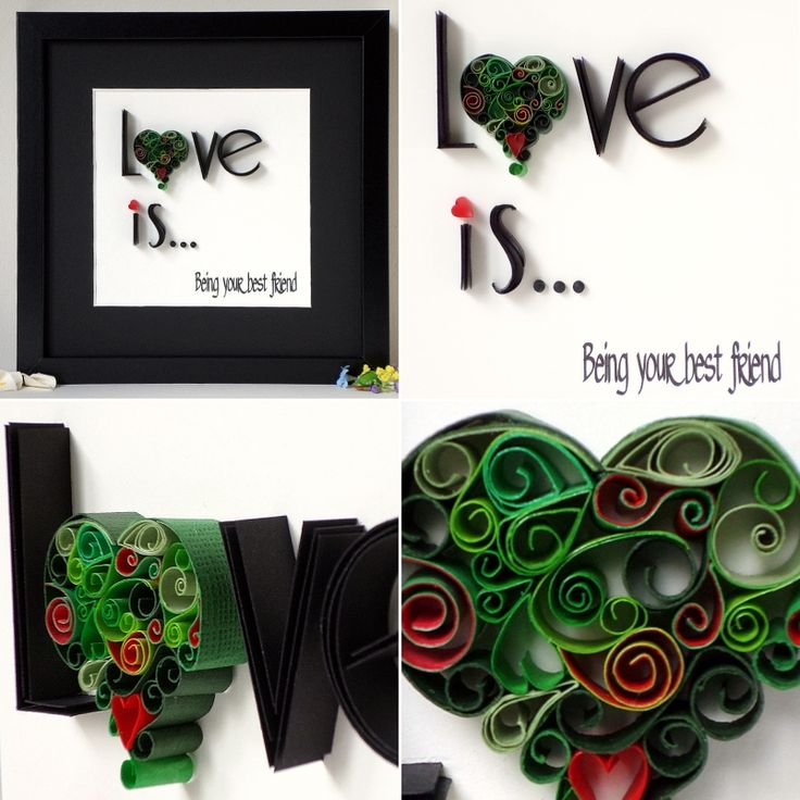Unique, hand quilled Love Hearts for someone special on Valentines Day. Available in different colour variations. Each heart if different and individual.  www.quillartuk.etsy.com  #valentines #loversgift #giftforher #giftforhim