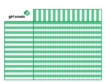 Girl Scout Attendance and Badge Chart....Good idea to keep track of who ordered, how many, and what kind for cookie sales!!!