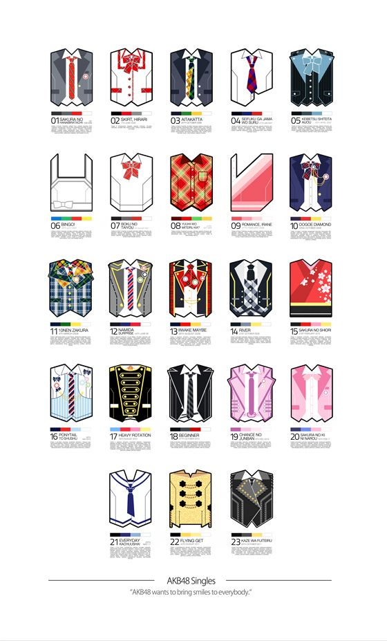 AKB48 Costumes on Behance