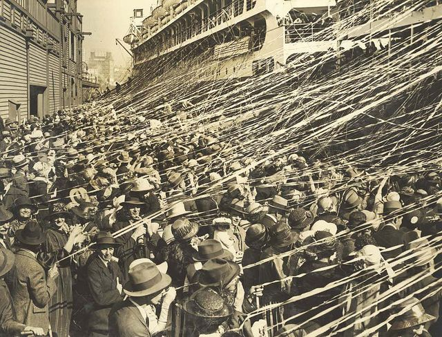 "Watching the departure of the Australian Olympic Team on the S.S. ""Ormonde"", 1924 by State Records NSW, via Flickr"