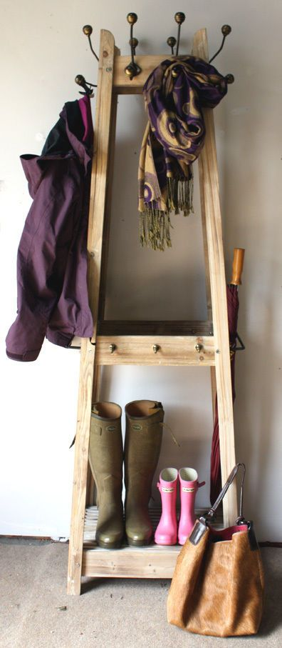 Wooden Coat and Hat Stand in Home, Furniture & DIY, Storage Solutions, Clothes Rails & Coat Stands | eBay