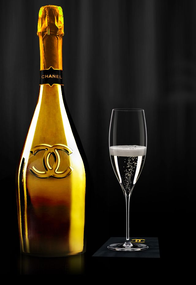 gold chanel champagne