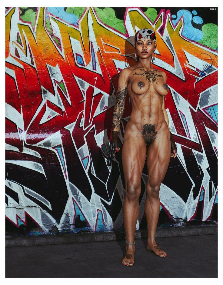 barefoot Gangster Girl by EVKf