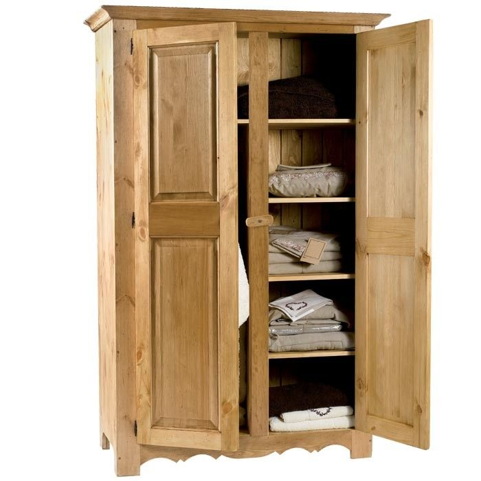Armoire Pin Massif Hannover Tall Cabinet Storage Armoire Storage Cabinet