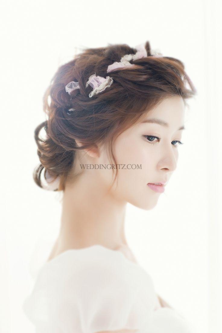 48 best korean bridal hairstyles images on pinterest   bridal