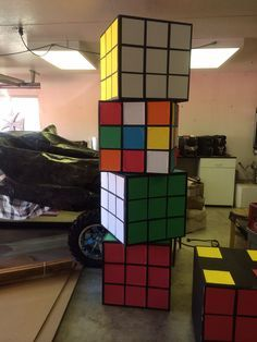 80's Homecoming Float rubrics cubes