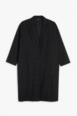 Monki Image 2 of Lightweight denim coat  in Black