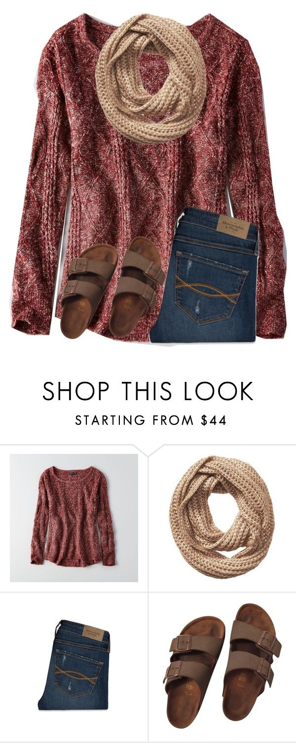 """Y'all doing anything for thanksgiving?"" by ponyboysgirlfriend ❤ liked on Polyvore featuring American Eagle Outfitters, Vincent Pradier, Abercrombie & Fitch and Birkenstock"