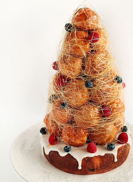 """Croquembouche Cake with Lemon & Berries... A spectacular cake from this blog, """"Raspberri Cupcakes""""."""