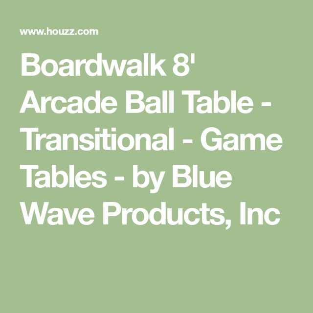 Boardwalk 8' Arcade Ball Table - Transitional - Game Tables - by Blue Wave Products, Inc