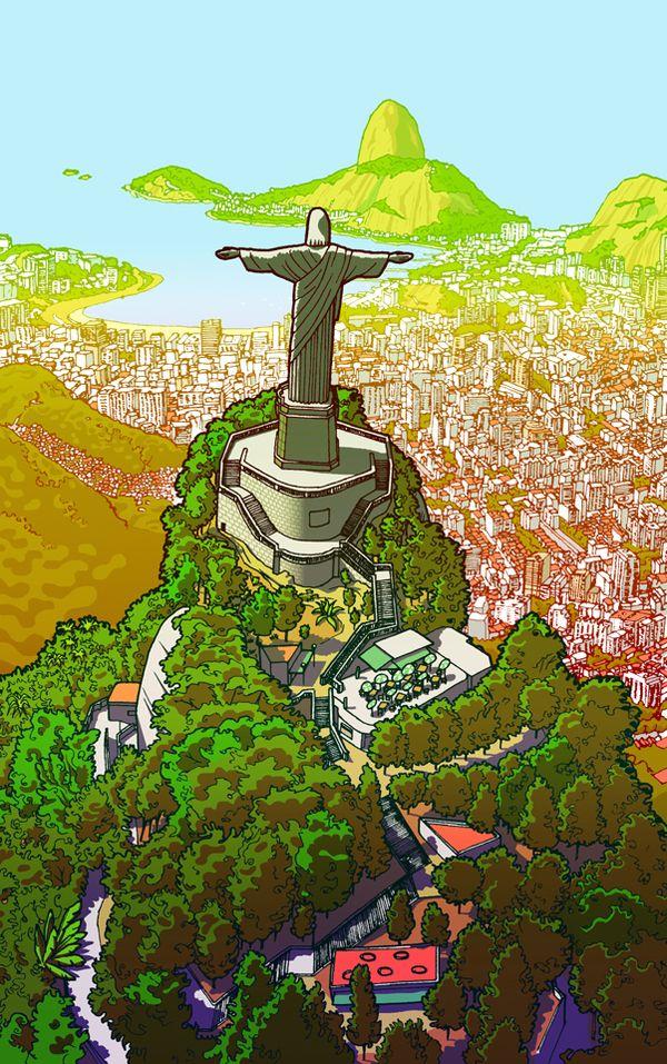 Christ The Redeemer, Corcovado, Rio de Janeiro.