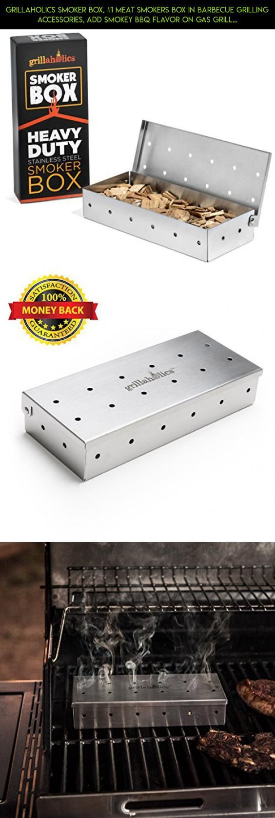 Grillaholics Smoker Box, #1 Meat Smokers Box in Barbecue Grilling Accessories, Add Smokey BBQ Flavor on Gas Grill or Charcoal Grills with This Stainless Steel Wood Chip Smoker Box #drone #bbq #technology #camera #kit #fpv #parts #shopping #tech #products