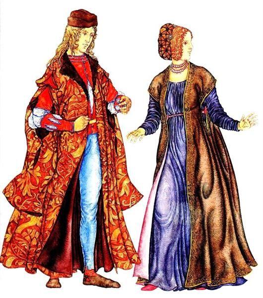 Национальный костюмы женщин 19 века в италий