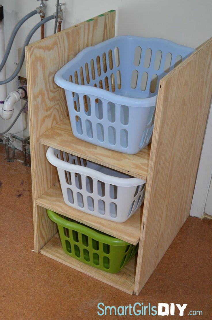 17 best ideas about laundry basket shelves on pinterest. Black Bedroom Furniture Sets. Home Design Ideas