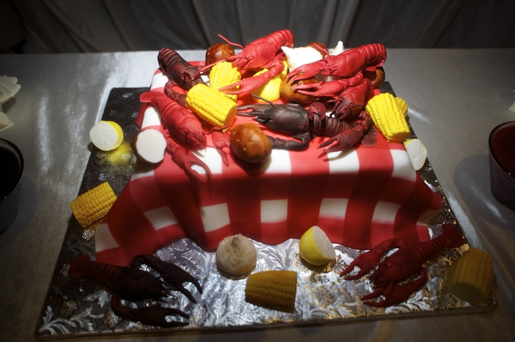 Groom's Cake - Crawfish Boil Cheesecake! | graduation ideas | Pinterest | Groom cake, Cheesecake ...