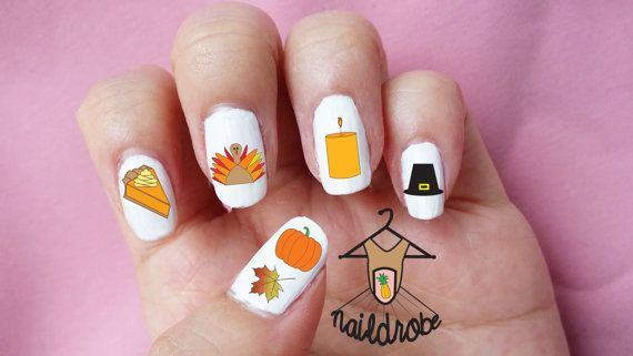 23 best Fall/Thanksgiving Nail Art images on Pinterest