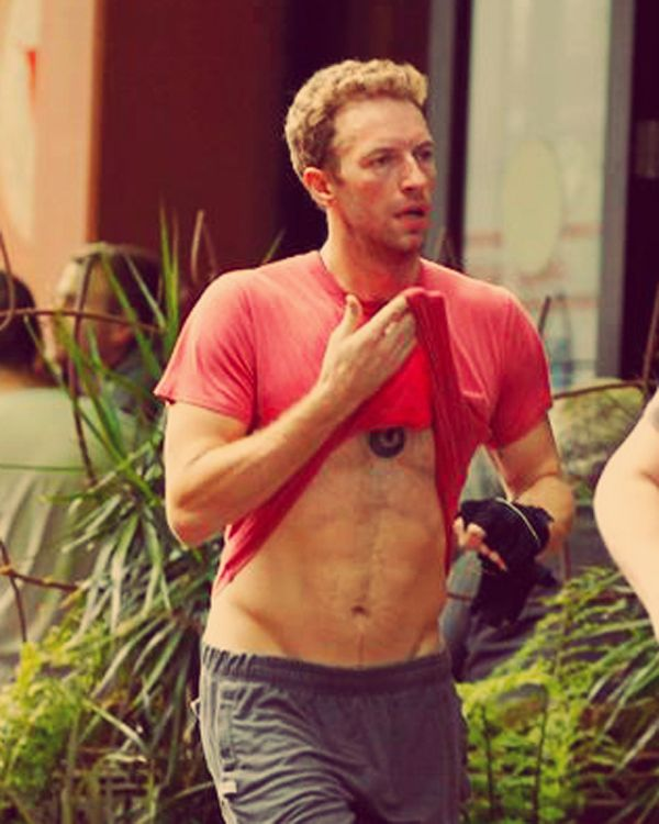 And here's a picture of Chris Martin lifting up his shirt.