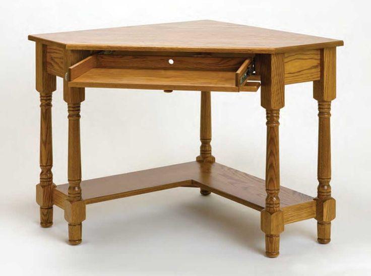 16 best images about Stunning Oak Corner Desk on Pinterest