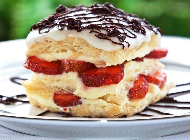 Strawberry Napoleon Dessert | Food | Pinterest
