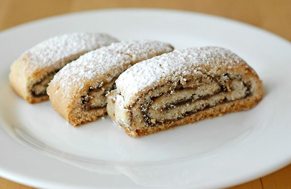 Nutella filled rolled cookies
